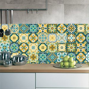 New retro baroque tile stickers home living room decoration stickers