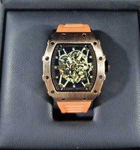 럭셔리 리처드 두개골이 스포츠 시계는 다이아몬드는 남자 여자의 석영 시계 패션 시계 전화 상감을 드릴 남자 석영 시계의 무료 배송 YU