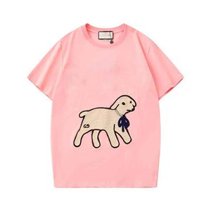 Woman 2020's latest designer is a short-sleeved T-shirt with embroidered lamb and diamond-printed S M L XL XXL PPA88