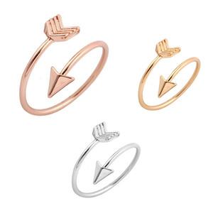 3 colori Anelli Freccia fascia della lega monili registrabili aperto del polsino anello Belle adolescente ragazzi e girld regalo 16mm M822