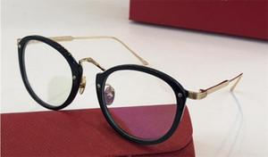 vidrios ópticos nuevo diseñador de moda 0014 marco redondo lentes transparentes retro de los vidrios claros de estilo simple puede ser lente de prescripción