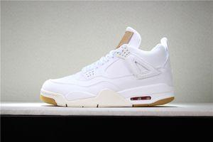NIKE Air Jordan 4 Retro 4 CACUS JACK Travis Scotts x 4 s Houston Oiler Branco Cement Raptors IV Mens tênis de Basquete Puro DINHEIRO Realeza Sports Calçados esportivos