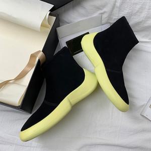 Botas de tejer chic mujeres resbalones en zapatos mujeres pista botas mujer elástico bota feminina casual botines mujer 2020 otoño calzado