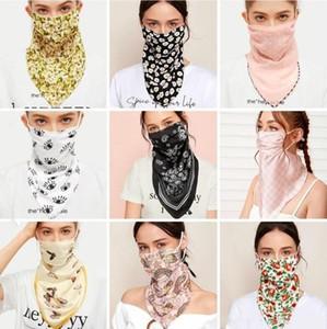 Maskeler Kelebek Çiçek Baskılı Kurdele Scarve Baskı Güneş kremi Buz İpek Çok Renkli Yıkanabilir Gazlı bez Dustpoof Ağız Kapak LSK594 Maskesi