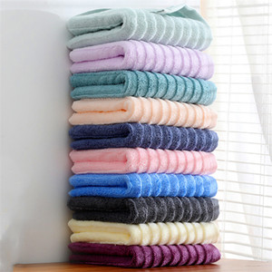 New product striped towel cotton 32 strands thickened broken file soft water-absorbing couple home weak twist yarn towel