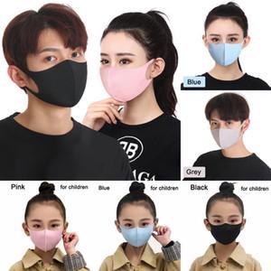 Ice Seta antipolvere Bocca Maschera riutilizzabile lavabile della maschera di prova per adulti bambini Comodo Anti Inquinamento Shield vento Bocca copertina LJJO7753