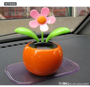 Авто Солнечного Украшения автомобилей Украшение Power Flower Горшок интерьер автомобиль игрушка Подарки
