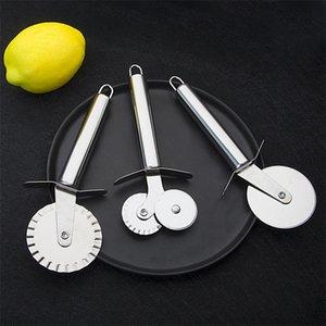 Couteau à pizza à manche rond en acier inoxydable à une roue, couteaux de cuisson pour cuisinière avec un style différent 1 7lb J1