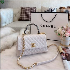 2020 high quality fashion women handbag ladies design full color lettering bracelet wallet leather chain bag messenger bag size 25*16CM