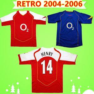 Arsenal soccer jersey V.persie PIRES Bergkamp HENRY REYES VIEIRA 2004 2005 classica maglia da calcio annata 2006 Retro maglia da calcio Fabregas 04 05 06 casa rosso