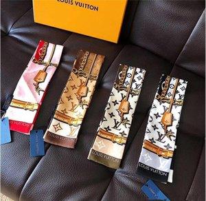 الفاخرة حقيبة يد الحرير شعبية رباطات النساء الحرير scarvers 100٪ للأعلى للأزياء الحرير وشاح الكلاسيكية النساء العلامة التجارية المطبوعة وشاح بالجملة