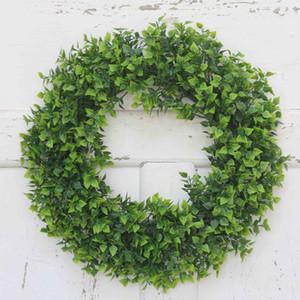 Simulazione Piante Corona fiore artificiale Corona fai da te Wedding Decoration Corone immagine della decorazione Puntelli Wall Hanging piante sospensione DH0912