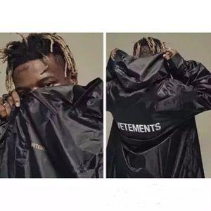 Mens Designer Preto Outono Inverno longos casacos corta-vento Carta Imprimir Hip Hop moda Slid soltas masculinos Rua Coats Jacket Tops Casual
