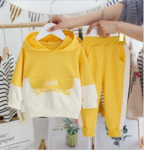 New style baby spring suit baby children's wear foreign style little boy's spring autumn color matching sweater two piece set manufacturer's