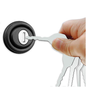 أدوات الأقفال أدوات السيارات jiggler 10 قطع مجموعة كاملة المقاوم للصدأ السيارات السيارات بيك إصلاح أداة اختيار فتاحة أداة اليد مجموعة