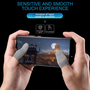 100 Pairs Finger Sleeve Ultra-thin Anti Sweat Washable Controller Gloves Touch Screen Thumbs Finger Sleeve for Pubg Mobile Phone Game Gloves