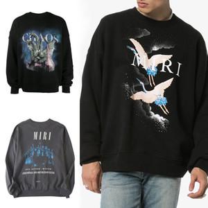 Роскошный дизайнерский балахон известный бренд мужская женская одежда Мужская высококачественная печать толстовка 3 стиля мужская круглая шея пуловер с длинным рукавом