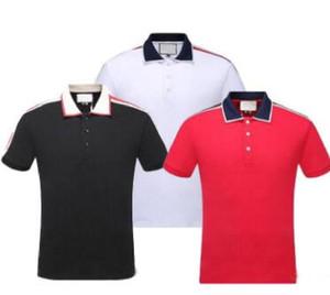 Luxury Europe Parigi patchwork uomini maglietta Moda Uomo Designer camicia casual da uomo Abbigliamento medusa Cotton Tee lusso di polo