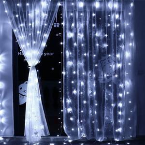 3 M x 3 M 300LED Outdoor Casa Natale Decorativo Natale String Fairy Curtain Strip Ghirlande Luci di Festa Per Decorazioni di Nozze 110 V / 220 V