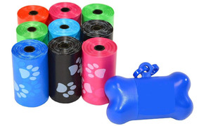 Pet Waste Bags Dog Poop Bags Earth-Friendly Leak-Proof Rainbow Color+Free Bone Dispenser and 1 dozen=12 rolls.15pcs roll
