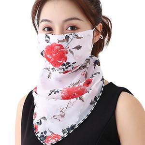 Novità Donne multifunzionale sciarpa maschera di protezione del collo di copertura chiffon 19 colori 10pcs / Lot di prezzi all'ingrosso di trasporto