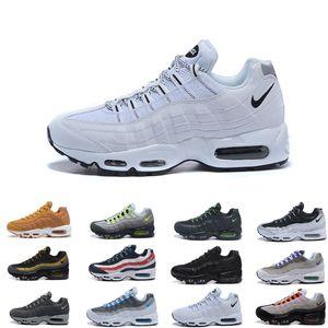 Drop Shipping Toptan Koşu Ayakkabıları Erkekler Yastık 95 OG Sneakers Çizmeler Otantik 95 s Yeni Yürüyüş Indirim Spor Ayakkabı Boyutu 36-46 A415