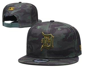 Yeni Erkekler Detroit Şapkalar Seattle Arizona San Francisco Logo Nakış Spor Ayarlanabilir beyzbol Caps Siyah Renk Bulma