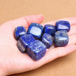 lapis lazuli naturel cristal cube squar pierre irrégulière roulées petite taille belle guérison de cristal bonne poli des pierres précieuses
