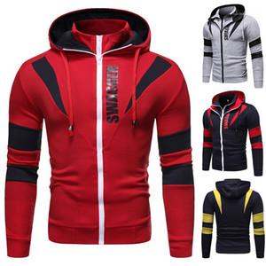Mens Sweatshirts beiläufig plus Größe Mens Kleidung Doppel-Reißverschluss Herren Designer Hoodies Frühling Cardigan Langarm-Kapuzen