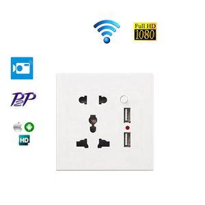 Pinhole Mini Ultra HD Camera wifi wall Socket WIFI Camera Video Remote Wireless Micro Camera Looped Recording