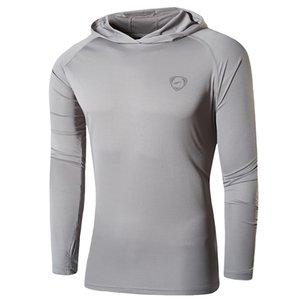 Jeansian Men's UPF 50+ UV Sun Protection Outdoor Long Sleeve Tee Shirt Tshirt T-Shirt Beach Summer LA271 LightGray2 CX200703