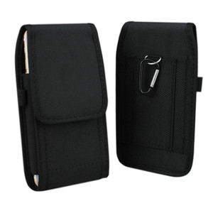 Nylon Pouch Bag with Hook Carabiner Belt Clip Holster Case for Samsung Galaxy Note 3 4 5 7 S7 Edge