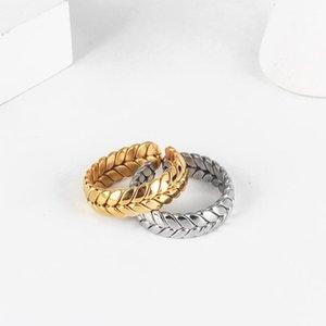 여성 남성 선물 쿠페 웨딩 JewelryFashion를 들어 조정 반지를 열기 2020316L 티타늄 스틸 링 골드 도금 밴드 반지