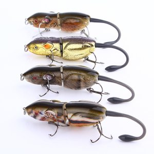 New Lifelike RAT gamefish Topwater Laser Fishing lure 20.5g 9cm 2segments floating Swimming 3-D Realistic mouse baitfish