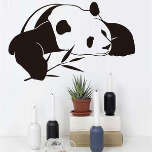Wall Stickers Panda Chinese Per Wallpaper Kids Room animale sveglio Diy impermeabile autoadesiva Wall Art Stickers Home Decor