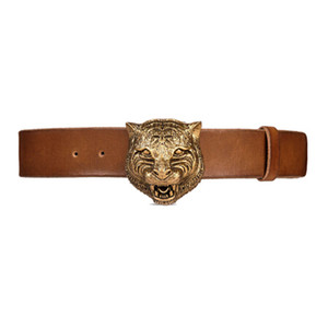 Brand Men's Belts Designer Wolf buckle high quality male waistband Genuine Leather Luxury double Brand Business Belt with Origina