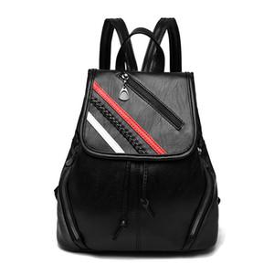 2019 High quality PU Backpack Leisure backpack lady bag travel bag Small big capacity Handbag Woman bag Backpack Style Fashion Bags Mini P27