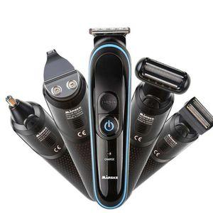 Afeitado de Hombre Máquina eléctrica recargable de cortar el pelo 5 en 1 pelo Clipper máquina de afeitar eléctrica barba Trimmer nariz Trimmer 5