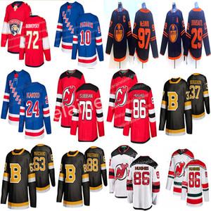 New York Rangers Hokey Formalar 24 Kaapo Kakko 10 Artemi Panarin Devils 76 P. K. Subban 86 Jack Hughes Hokey formaları