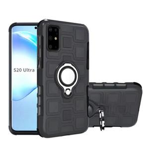 Dedo anel titular TPU PC Armadura celular tampa da caixa de telefone magnético à prova de choque para Samsung Galaxy S20 Plus Ultra S10 A70S A50 iPhone Huawei