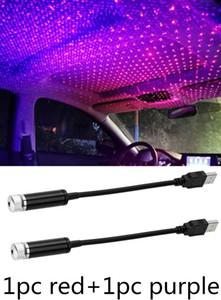 USB-Laserlicht, justierbares mehr Modi Beleuchtungsstil mit USB-Anschluss, Atmosphäre Dekorationen Nachtlicht für Auto-Innenansicht, Decke, Schlafzimmer