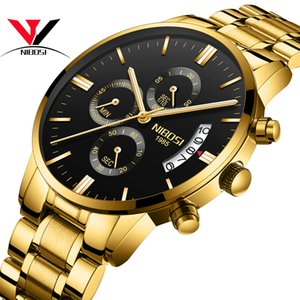 Relojes deportivos Relogio Masculino Nibosi para el ejército militar Reloj analógico / cronógrafo para hombre Reloj de acero inoxidable Reloj masculino Saat MX190725