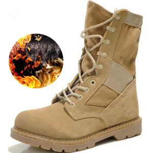 LAKESHI Herren Boots Mode Motorrad Stiefel Herren Schuhe Winter Male Herbst-Winter-Leder-Wüste Männlich