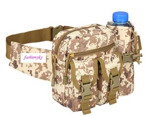 New Camouflage Outdoor Vertical tactical waist bag multi-purpose Messenger Bag Travel cycling kit sports water cup sets