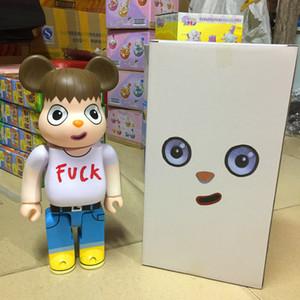Big Green Eyed 400% Bearbrick kaws Building block bear Javier Calleja PVC Hand-made toy model Action Figures free shipping