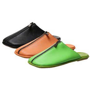 2020 Verão Chinelos New Feminino Casa Moda Ladies interior Casual Flats Mulher Green House Shoes Low Heel Slippers Mulheres