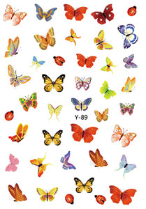 New Hot Butterfly Nail Stickers 3D Nail Art Sticker Decals Y88-Y94 6.0*9.0CM DHL free ship