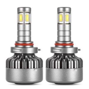 Winsun Pair of DC 12V   24V 80W 9600LM V10 9006 Car LED Headlight 6000K Front Lamp V10 80W LED 9006 Automobile Headlights