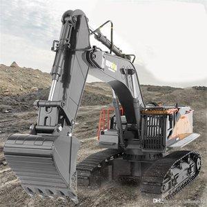 Хуиня 1:14 радиоуправляемый 1592 сплав экскаватор 22CH большие радиоуправляемые грузовики, экскаватор моделирование пульт дистанционного управления автомобиль игрушки для мальчиков