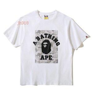 La primavera e l'estate del nuovo Reflective Stampa T-shirt di Cartoon girocollo a maniche corte T-shirt T-shirt alla moda allentato Uomo